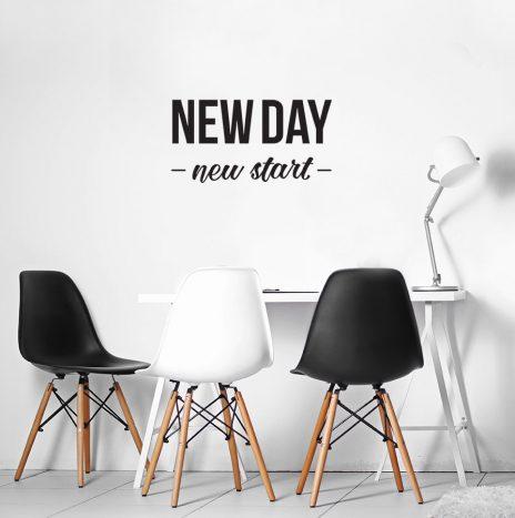 New day מדבקת קיר