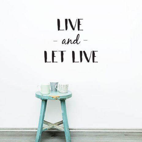 Let live מדבקת קיר