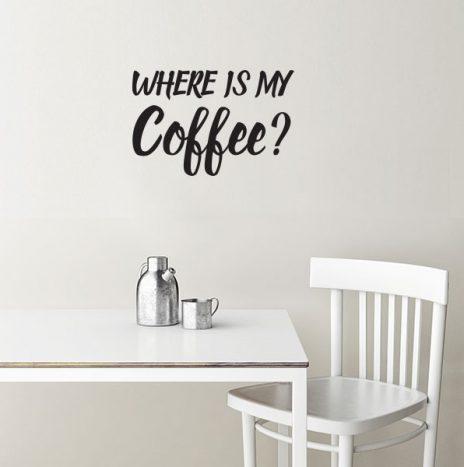 Coffee מדבקת קיר