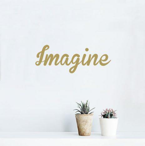 Imagine מדבקת קיר