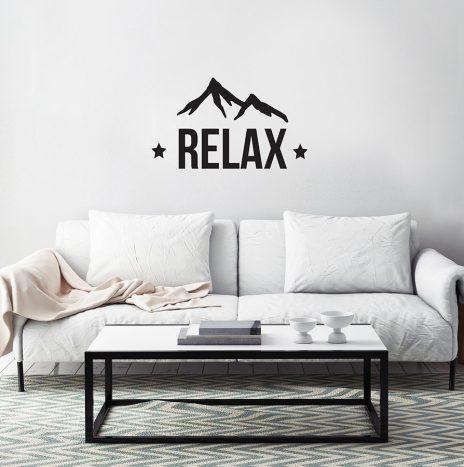 Relax מדבקת קיר