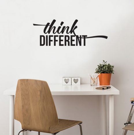 מדבקת קיר  Think Different