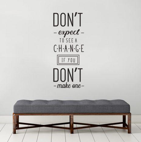 מדבקת קיר Make Change