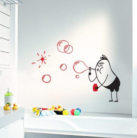 Bubbles Wally מדבקת קיר