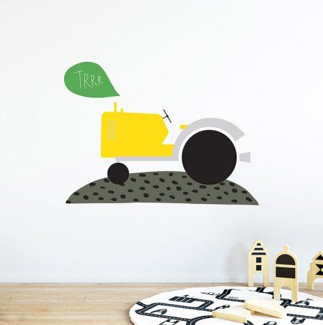 מדבקת קיר Tractor