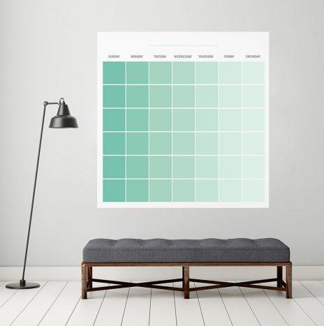 לוח מחיק חודשי Color