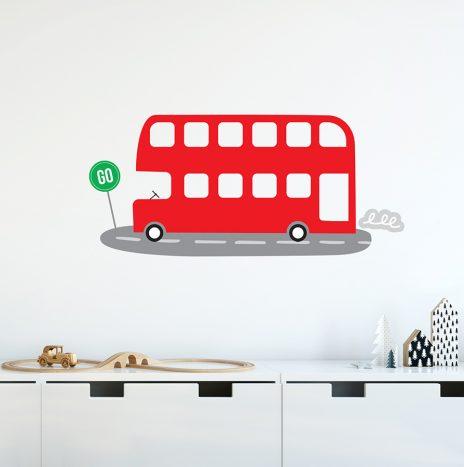 מדבקת קיר Bus
