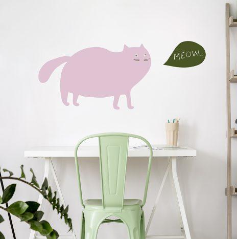 מדבקת קיר Fat Cat
