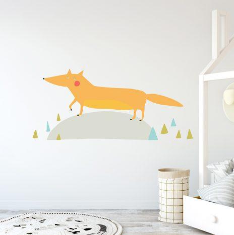 מדבקת קיר Fox